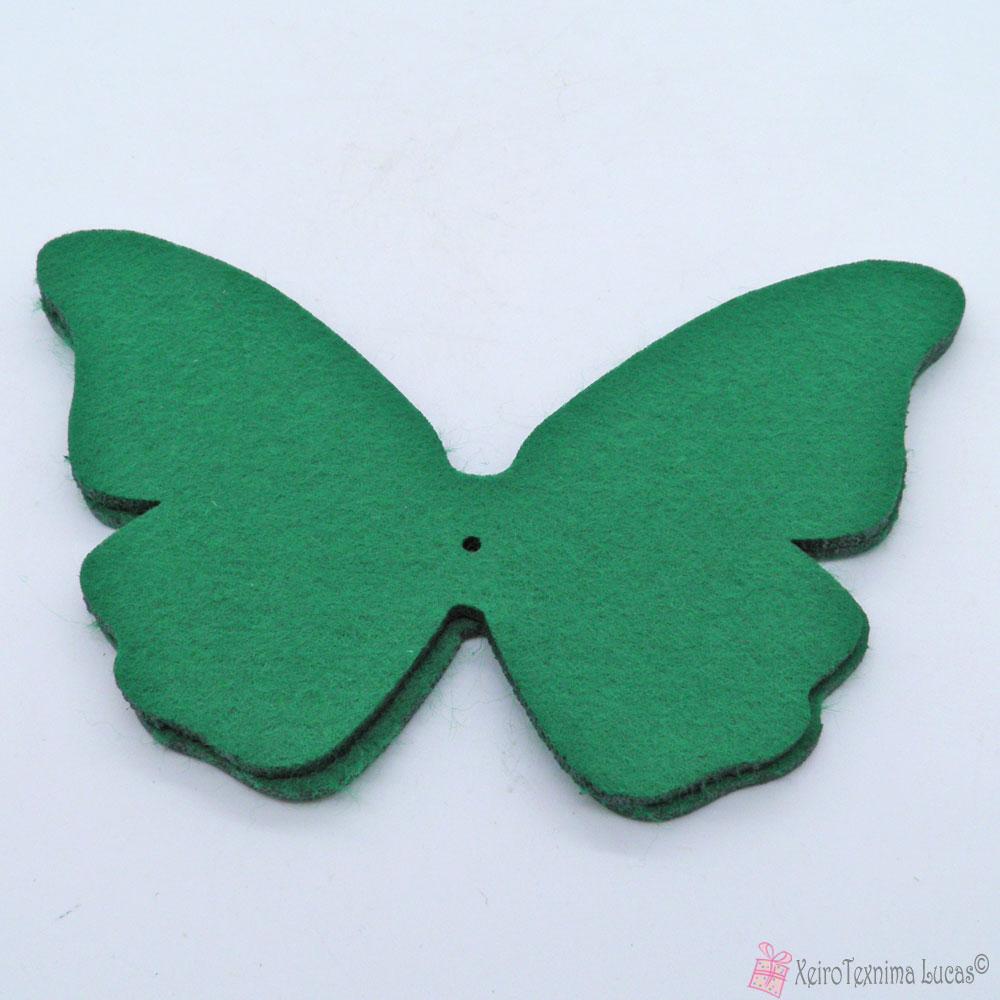 πράσινες πεταλούδες από τσόχα