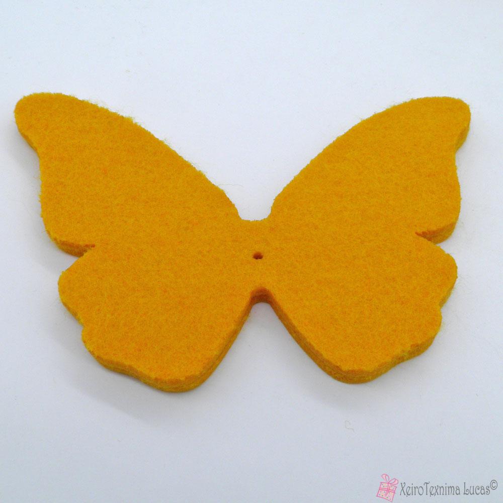 κίτρινες πεταλούδες από τσόχα