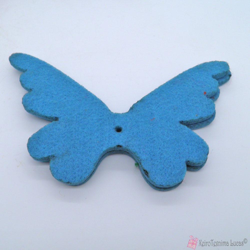 μπλε πεταλούδες από τσόχα