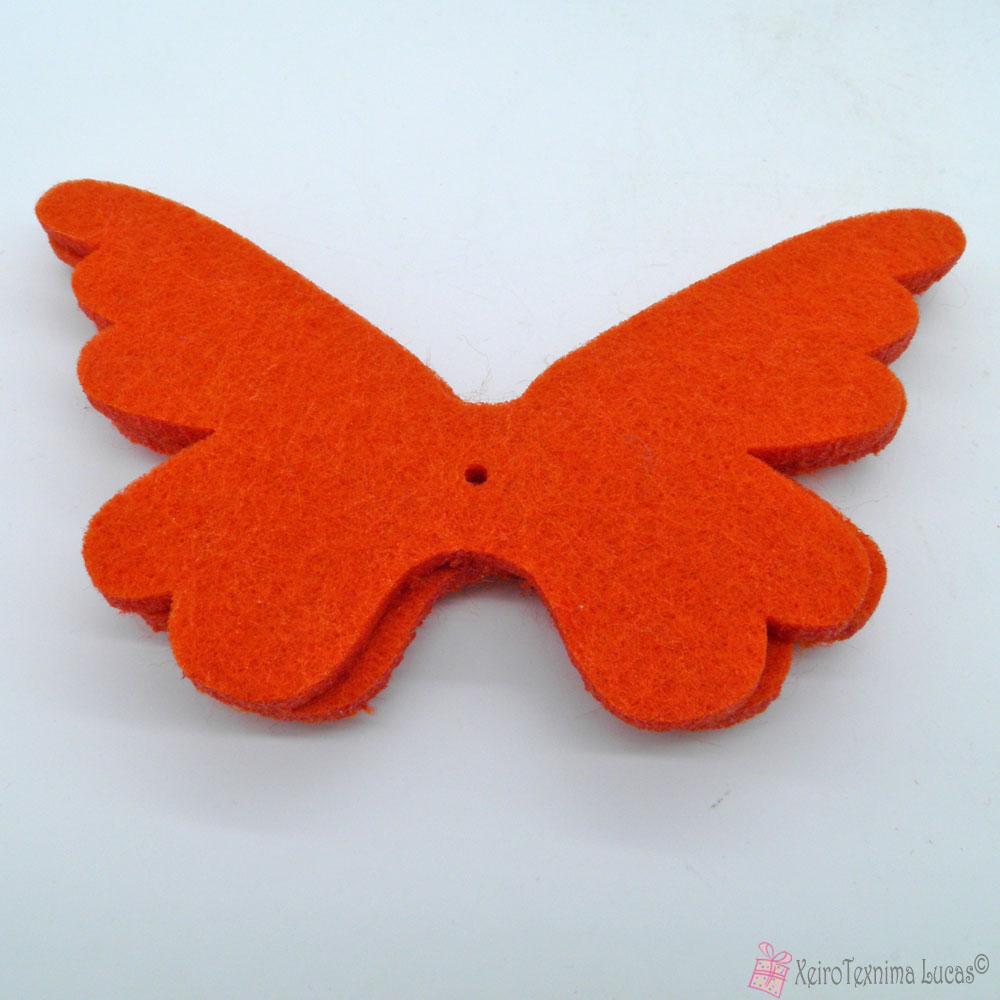 πορτοκαλί πεταλούδες από τσόχα
