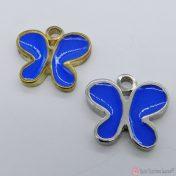 μεταλλικές πεταλούδες με μπλε σμάλτο