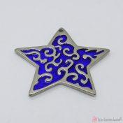 Ασημί μεταλλικό αστέρι με μπλε σμάλτο