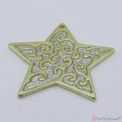 Χρυσό μεταλλικό αστέρι με ασημόσκονη