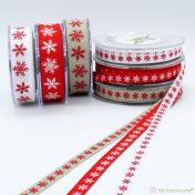 χριστουγεννιάτικες κορδέλες με νιφάδες