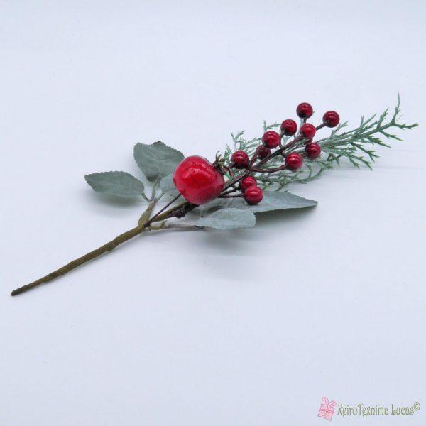 Χριστουγεννιάτικο κλαδί με κουκουνάρι