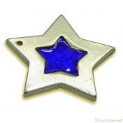 Χρυσό αστέρι με μπλε σμάλτο
