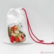 Χριστουγεννιάτικο πουγκί συσκευασίας με Άγιο Βασίλη