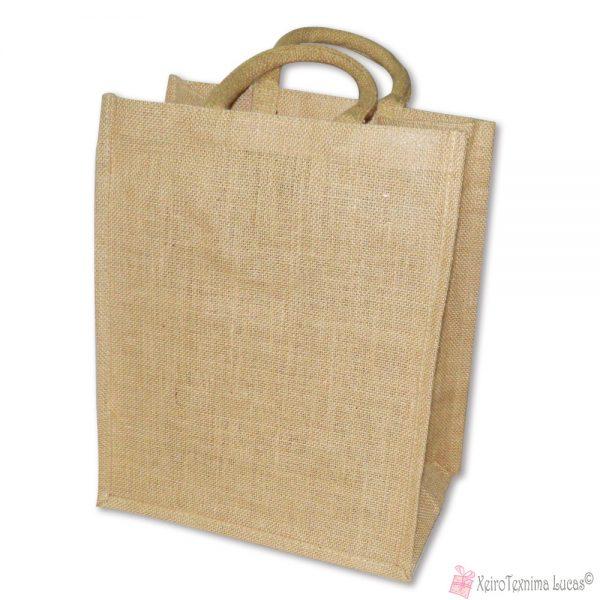 λινάτσα τσάντα για μεταφορά ποτών