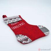 μπορντό κάλτσα merry christmas