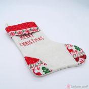 λευκή κάλτσα merry christmas