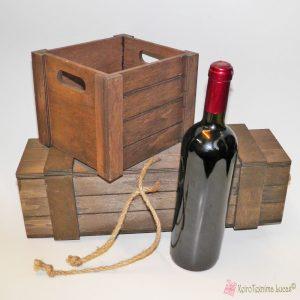 Ξύλινα κουτιά για συσκευασία μπουκαλιού