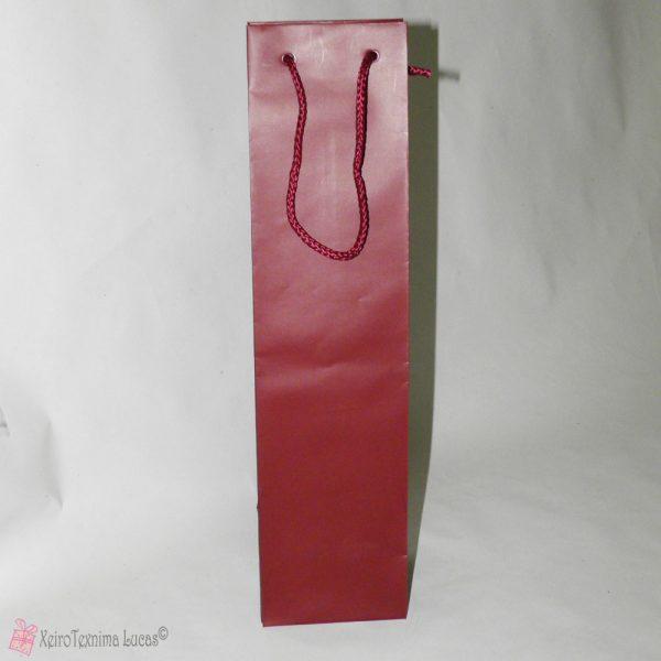 Μπορντό τσάντα για μια φιάλη