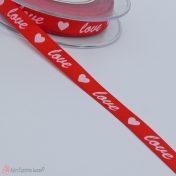Κόκκινη σατέν κορδέλα love