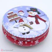 Στρογγυλό μεταλλικό χριστουγεννιάτικο κουτί