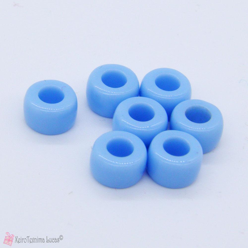 Γαλάζιες πλαστικές χάντρες - αλογόχαντρα