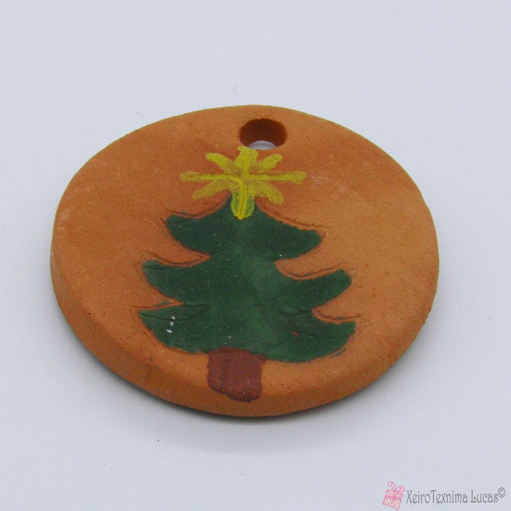 Μπίσκουι κεραμικό με χριστουγεννιάτικο δέντρο
