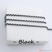 μαύρο συνθετικό κορδόνι