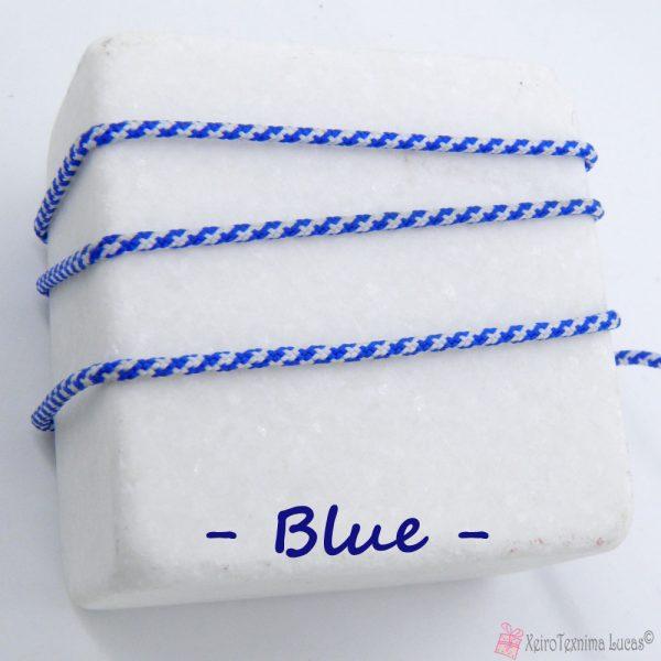 μπλε συνθετικό κορδόνι