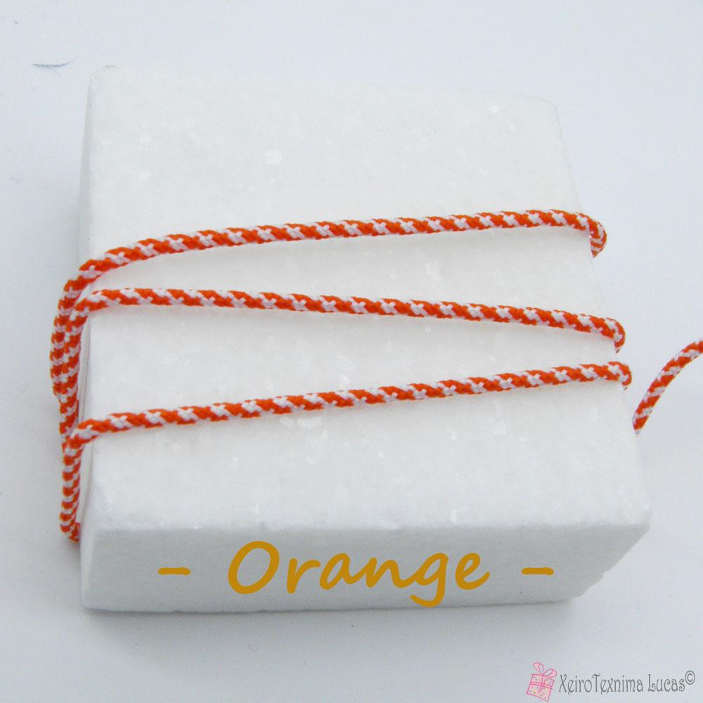 πορτοκαλί συνθετικό κορδόνι