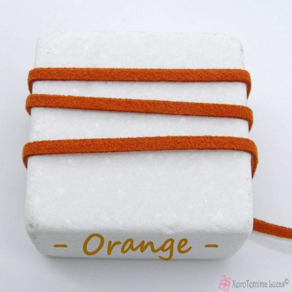 πορτοκαλί σουέτ κορδόνι με το μέτρο