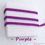 μοβ σουέτ κορδόνι με το μέτρο
