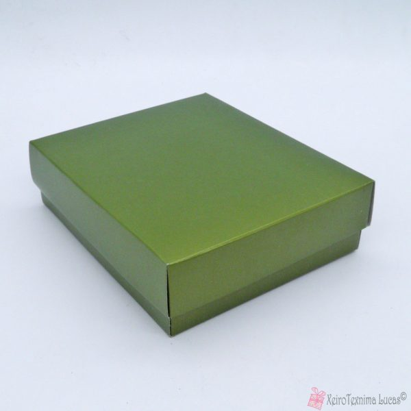 Πράσινο λαδί κουτί μπιζού
