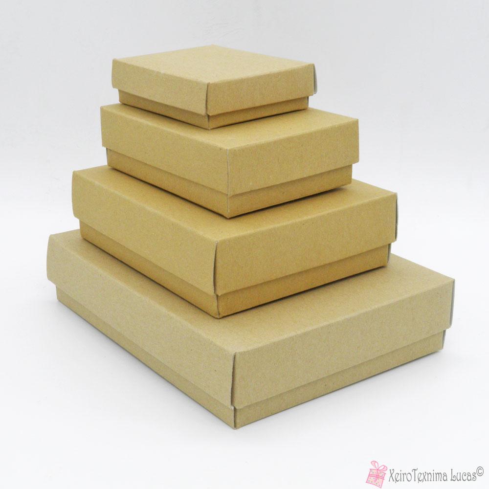 Κραφτ παραλληλόγραμμα χάρτινα κουτιά μπιζού