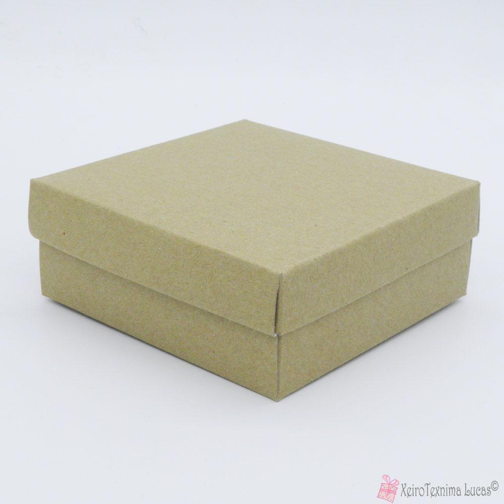 χάρτινο τετράγωνο κουτί μπιζού