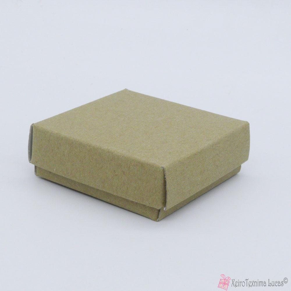 μικρό χάρτινο τετράγωνο κουτί μπιζού