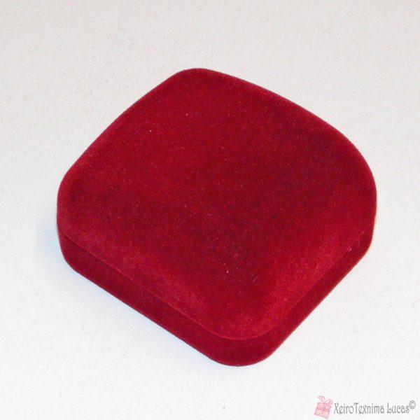 μπορντό βελούδινο κουτί για δαχτυλίδι