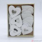Λευκές ξύλινες καρδιές