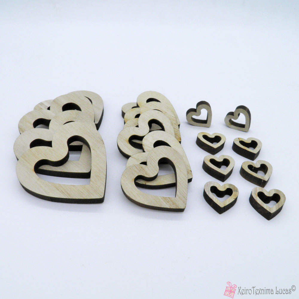 ξύλινες καρδιές