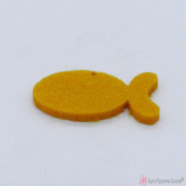 κίτρινο ψαράκι από τσόχα