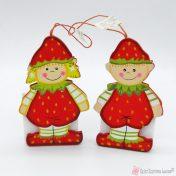 Ξύλινα παιδάκια - φραουλίτσες