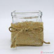 τετράγωνη γυάλα με λινάτσα