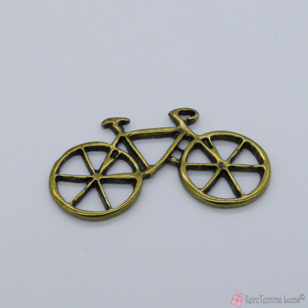 μεταλλικό μπρονζέ ποδήλατο