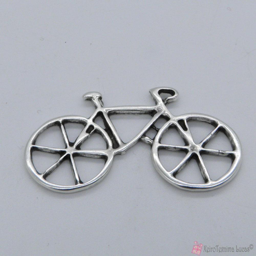 μεταλλικό επάργυρο ποδήλατο