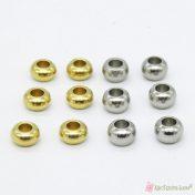Μεταλλικές χάντρες ρεβόλβερ 7*4.5mm