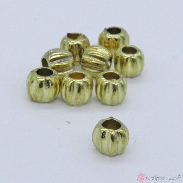 Μεταλλικές χρυσές (ορειχάλκωση) χυτές χάντρες