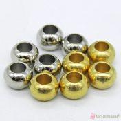 μεταλλικές χάντρες ρεβόλβερ σε ασημί ή χρυσό χρώμα