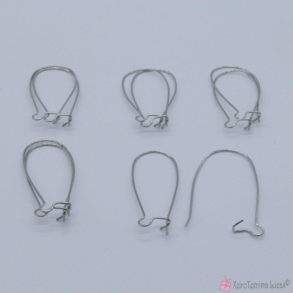 Κουμπώματα για σκουλαρίκια - ασημί
