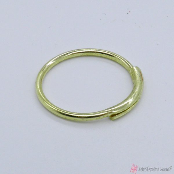 Κρίκος για κλειδιά σε χρυσαφί χρώμα (ορείχαλκος)