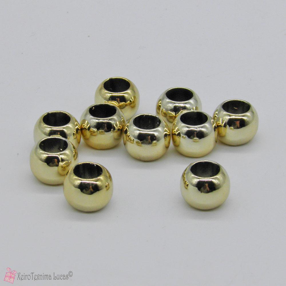 χρυσές πλαστικές χάντρες