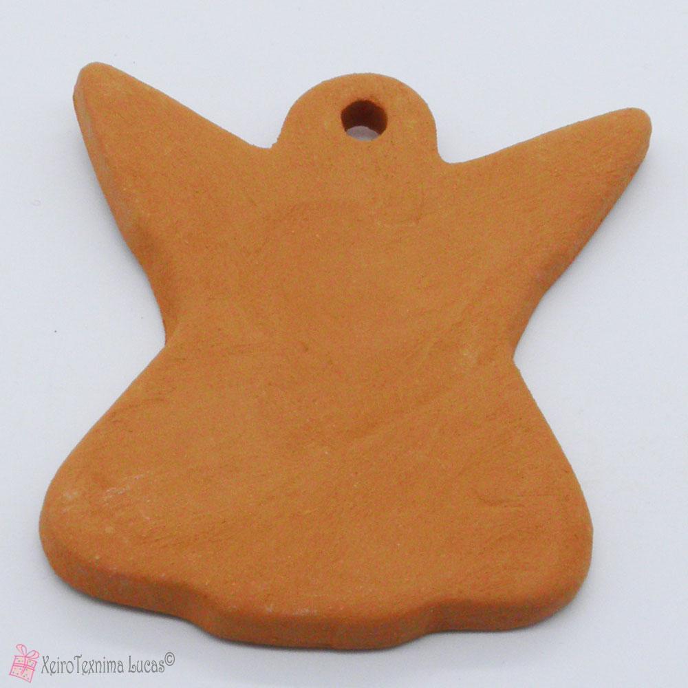 Καφέ κεραμικός άγγελος terracotta μπισκουι