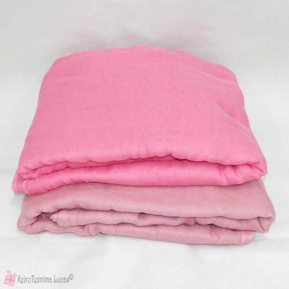 Ροζ και σάπιο μήλο μαλακιά γάζα για διακόσμηση