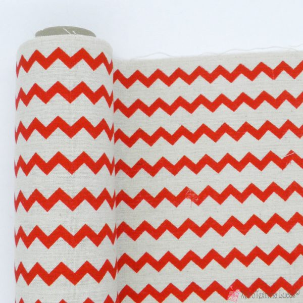ζιγκ ζαγκ βαμβακερό ύφασμα για διακόσμηση