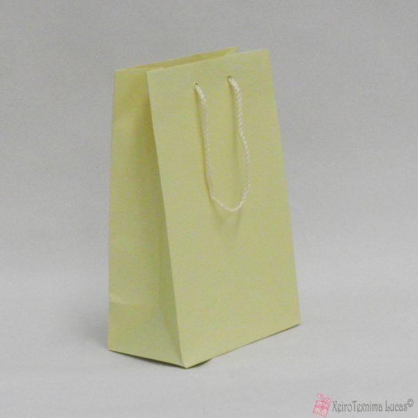 Εκρού χάρτινες τσάντες με κορδόνι