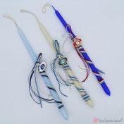 Πασχαλινές λαμπάδες με μεταλλικό μάτι με σμάλτο σε διάφορα χρώματα