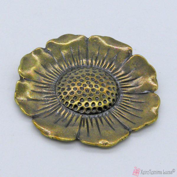 Μπρονζέ μεταλλικό λουλούδι
