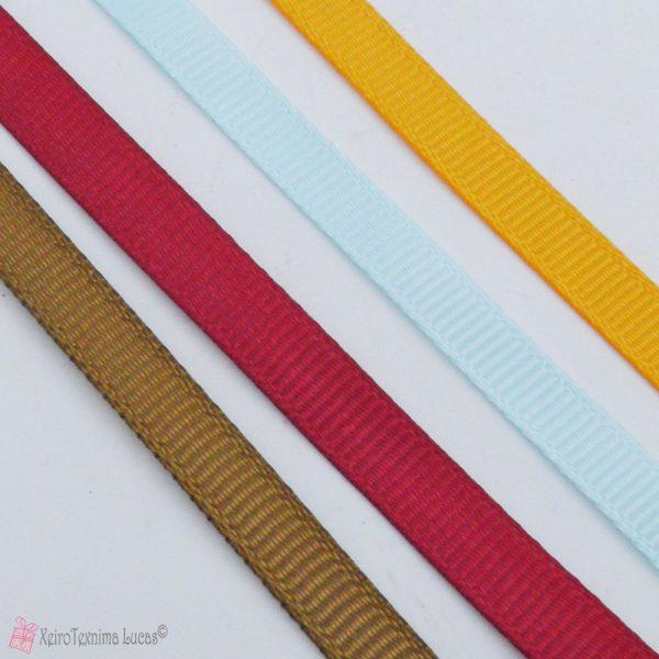 Γκρο υφασμάτινες κορδέλες σε πολλά χρώματα